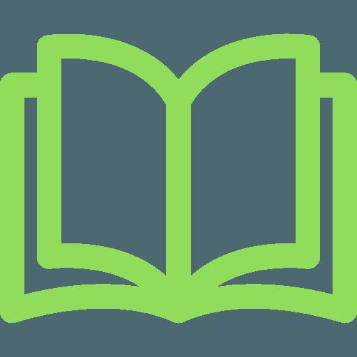 Das Logo von Lesemagie zeigt ein aufgeschlagenes, grünes Buch.
