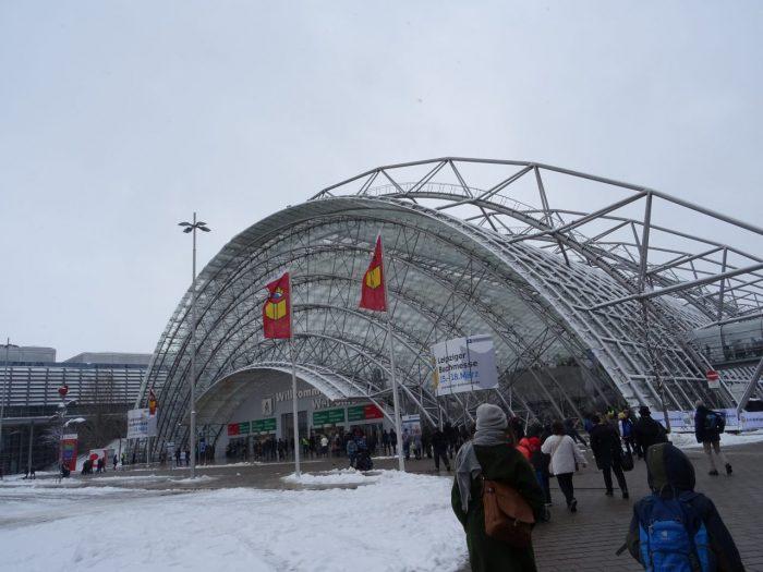 Eingang der Leipziger Buchmesse
