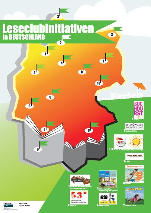 Übersicht der Leseclubs in Deutschland.